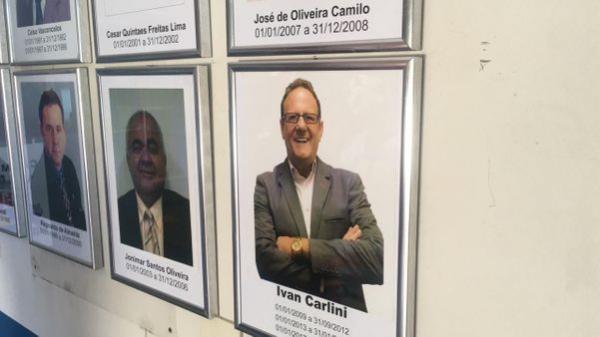 Ivan Carlini já é ex-presidente. Na galeria de fotos da Câmara de Vila Velha